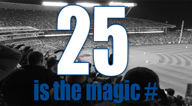 Royals 25 magic number