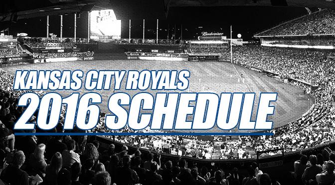 Royals 2016 schedule