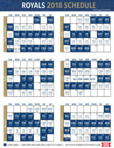 Kansas City Royals 2018 Schedule